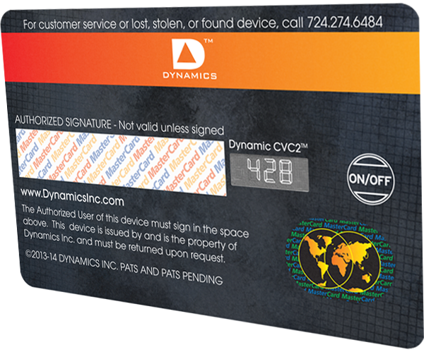 dynamic security code card